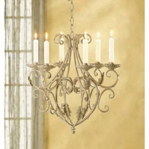 Antique candleholder cream golden finish chandelier