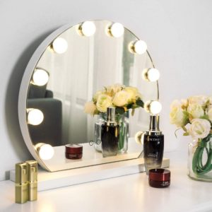 High definition vanity mirror with lights without framing