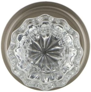 Vintage crystal glass door knobs with classic tangles
