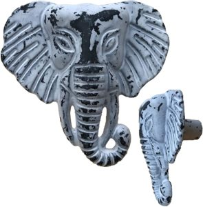 Antique elephant head door knobs