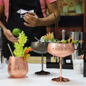 The Stainless Steel Glasses plated with copper