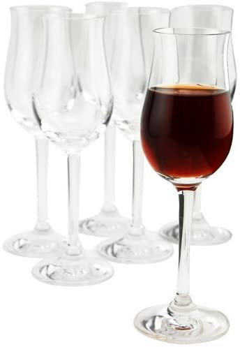 Antique crystal port wine glass