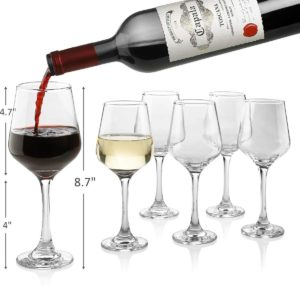 Classic Red/White Wine Glasses Lead