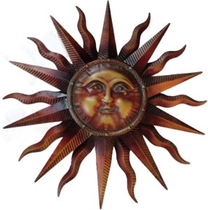 sun face outdoor wall decor