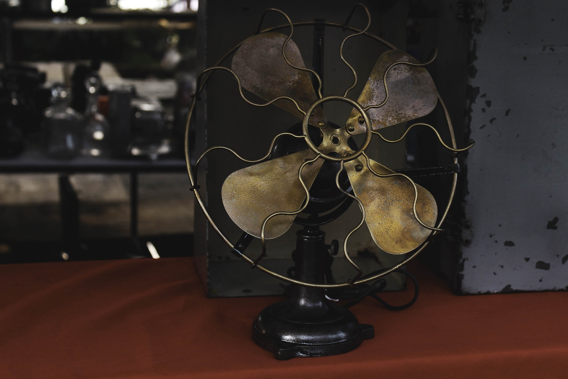Antique fan - antique item store