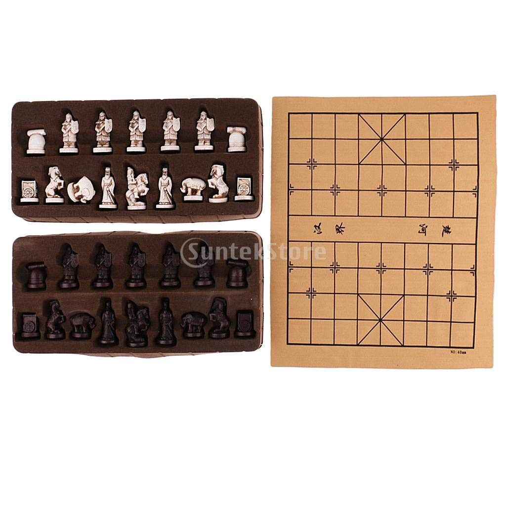 Portable Antique Chess Resin Pieces