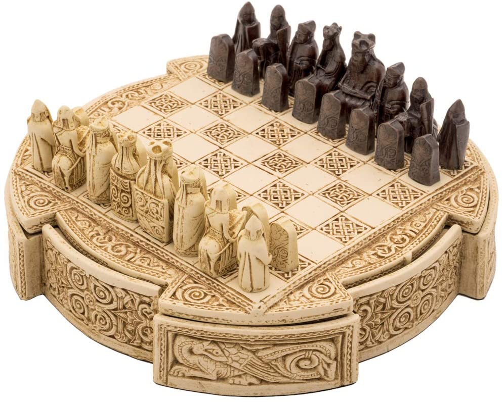 Lewis Compact Celtic Chess Set