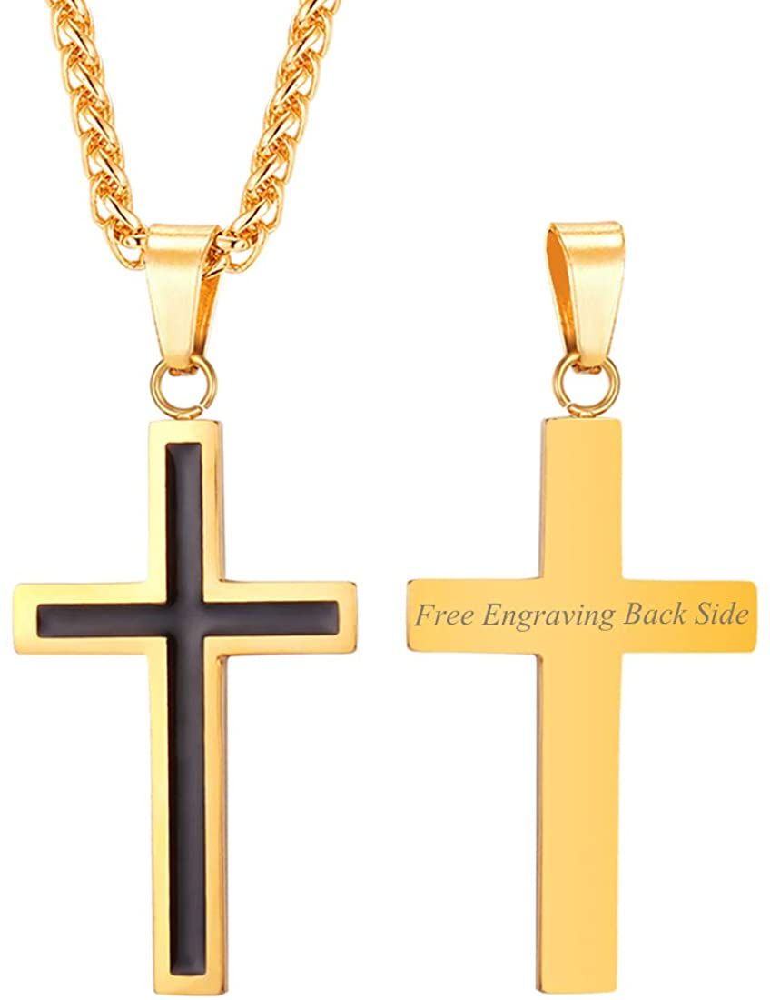 Antique Cross Necklace with Chain