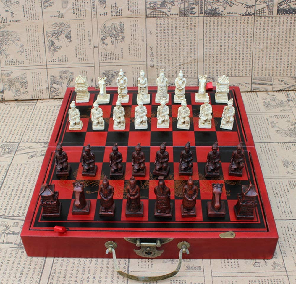 Chinese chess set antique with personality chess pieces